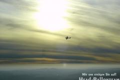 Besucher in der Luft